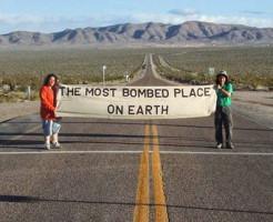 ネバダ核実験場での平和行進・森田ゆり02